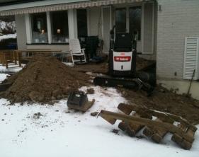 4 För arbetet anpassad grävmaskin